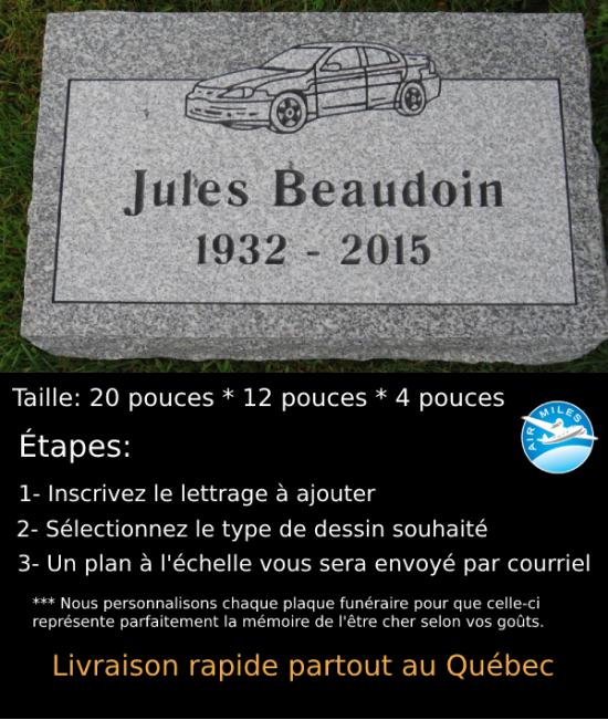 Plaque Funéraire en Granit #002