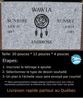Plaque Funéraire en Granit #013