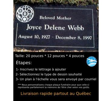 Plaque Funéraire en Granit #021