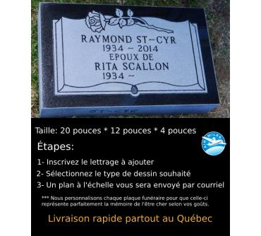 Plaque Funéraire en Granit #030