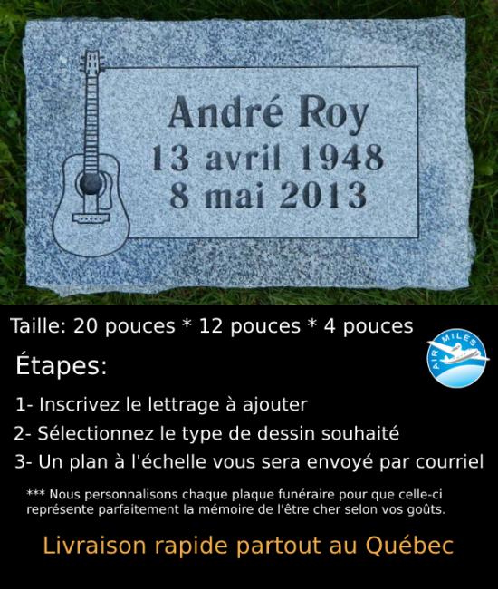 Plaque Funéraire en Granit #032