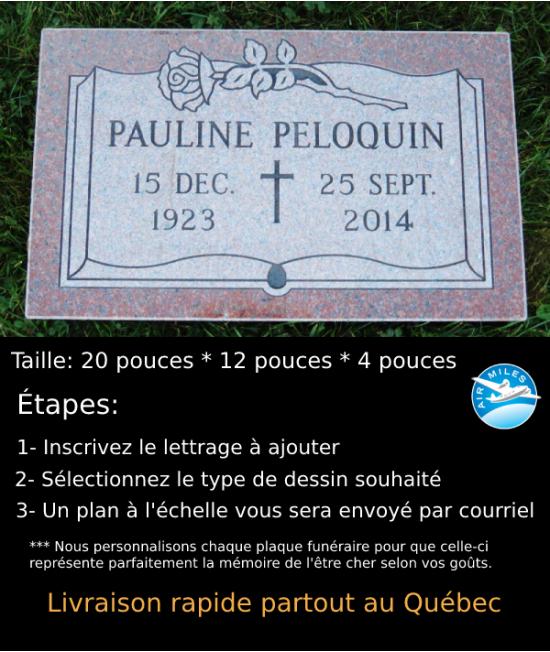 Plaque Funéraire en Granit #034