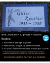 Plaque Funéraire en Granit #035