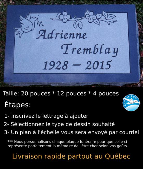 Plaque Funéraire en Granit #036