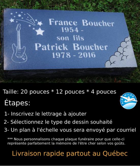 Plaque Funéraire en Granit #037
