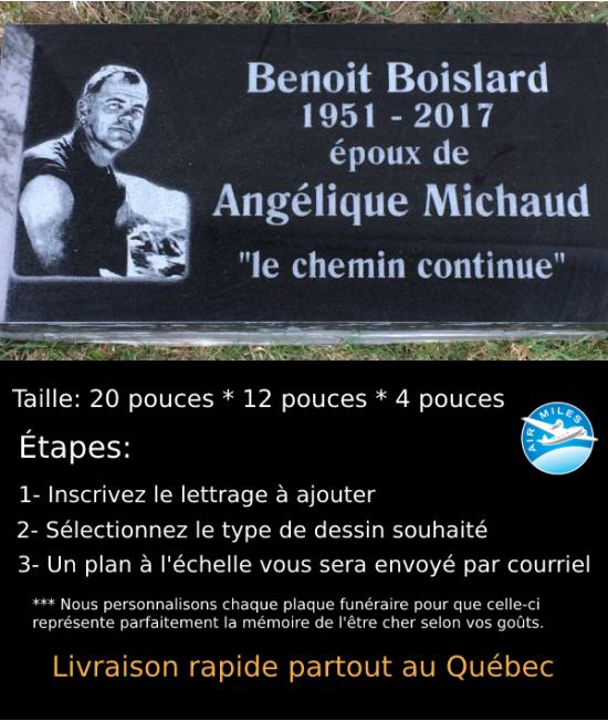 Plaque Funéraire en Granit #039