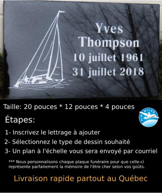 Plaque Funéraire en Granit #044