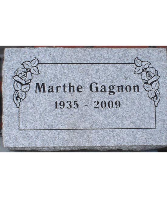 Plaque Funéraire en Granit #018