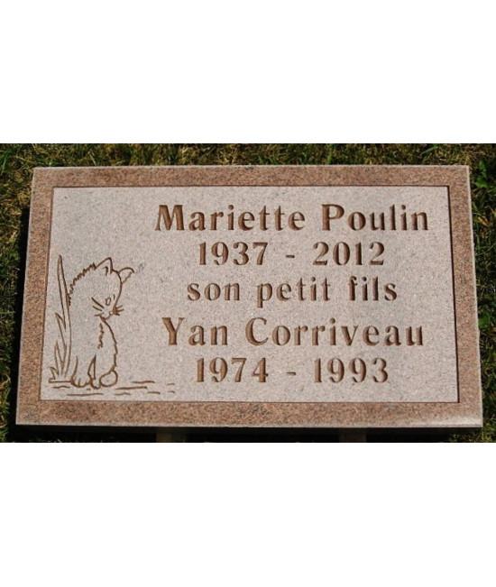 Plaque Funéraire en Granit #027