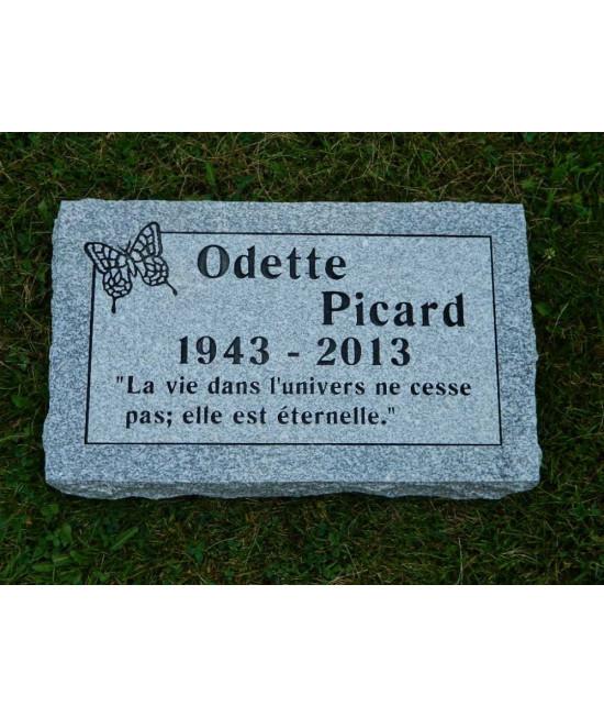 Plaque Funéraire en Granit #029